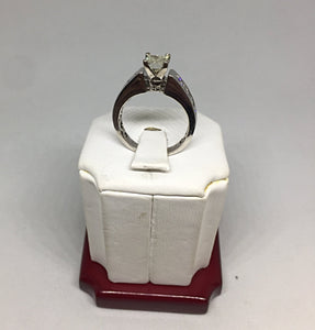 14k White Gold and Diamonds Engagement Ring -  - State Street Jewelry and Loan