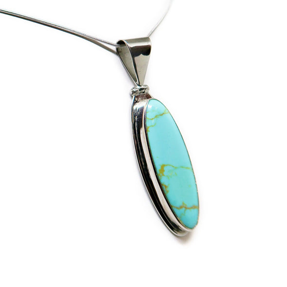 Turquoise and Silver Pendant -  - State Street Jewelry and Loan