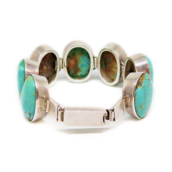 Turquoise and Silver Bracelet -  - State Street Jewelry and Loan