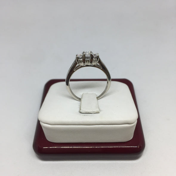 14k White Gold Round Cut Diamond Engagement Ring -  - State Street Jewelry and Loan