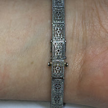 18k White Gold Sapphire and Diamond Deco Style Bracelet -  - State Street Jewelry and Loan
