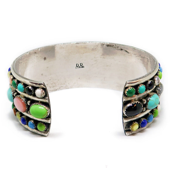 Sterling Silver Cuff Bracelet With Multi-Color Accent Stones -  - State Street Jewelry and Loan