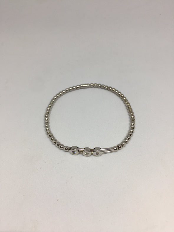 14k White Gold Bracelet with Diamonds -  - State Street Jewelry and Loan