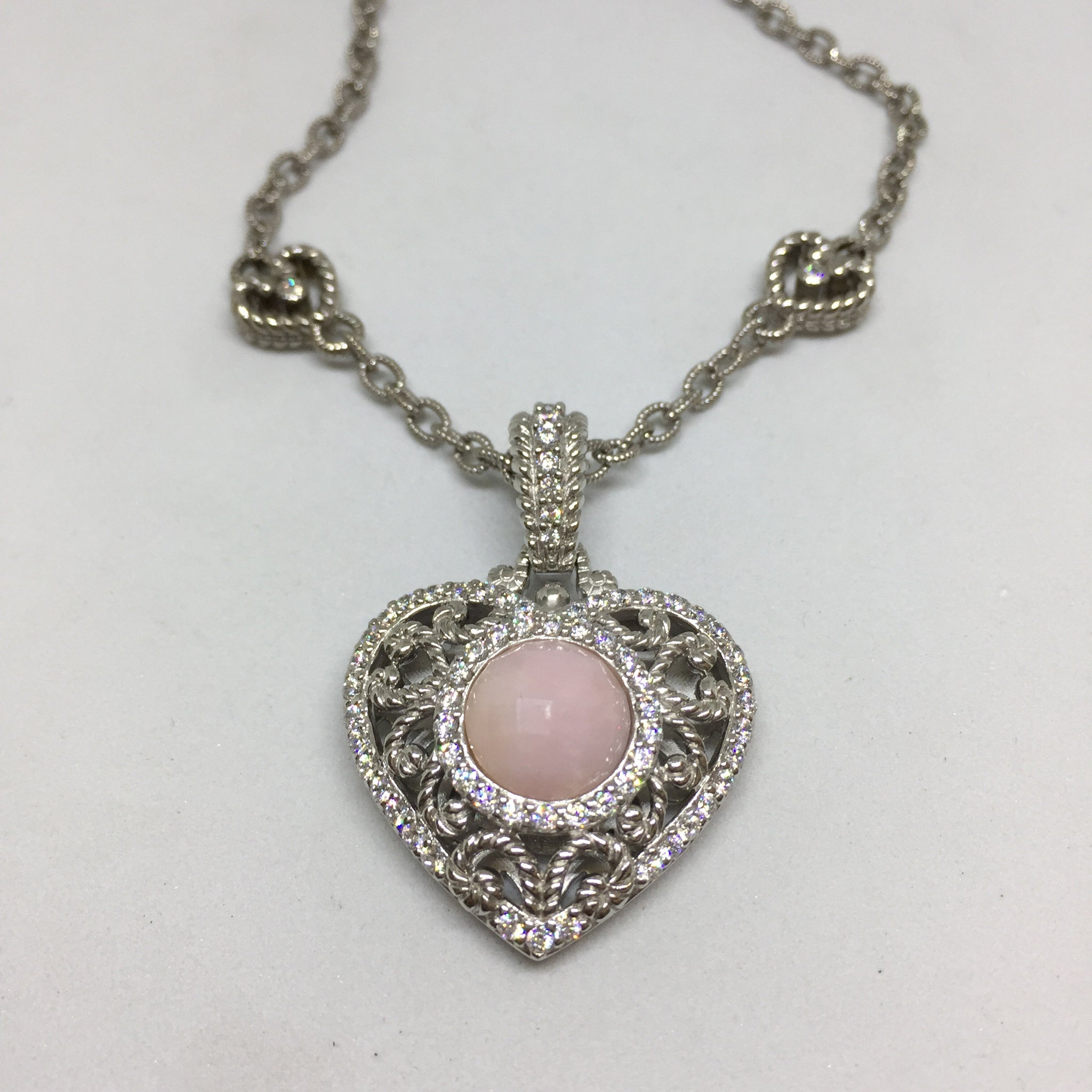 petite necklace and categories jewelry category pink ripka twin jewelers heart pendant product crystal la judith ampc royal