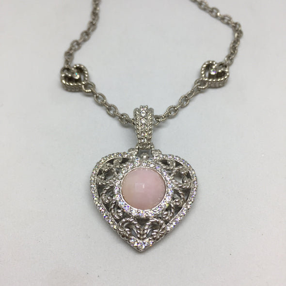 Judith Ripka Agate Heart Necklace -  - State Street Jewelry and Loan