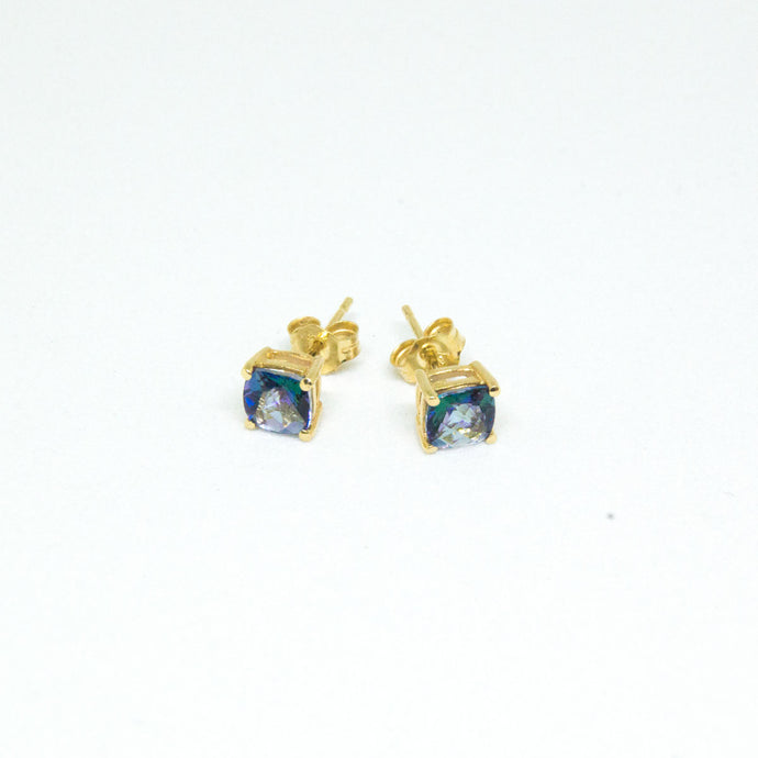 14K Yellow Gold Mystic Topaz Stud Earrings -  - State Street Jewelry and Loan