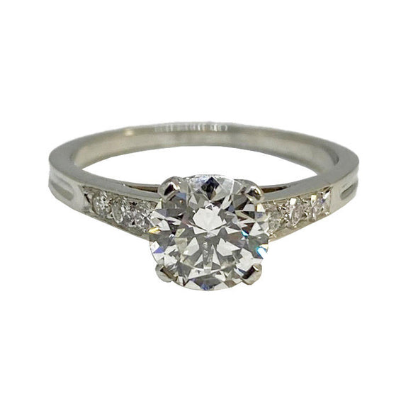 Vintage Platinum Tiffany & Co. Engagement Ring