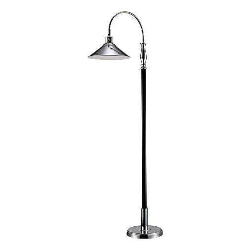 Monteaux Lighting 1001701988 61 in. Chrome and Black LED Floor Lamp
