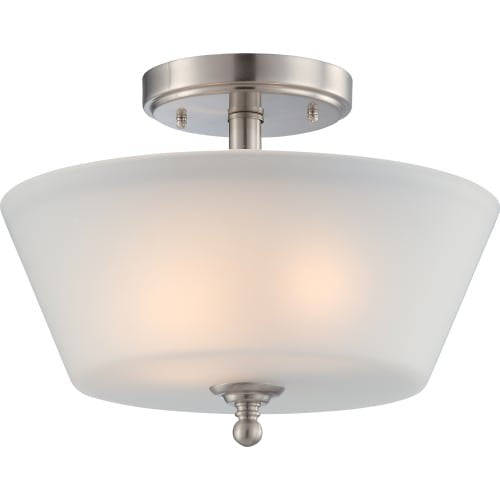 Nuvo Lighting One Light Surrey Vanity with Auburn Beige Glass