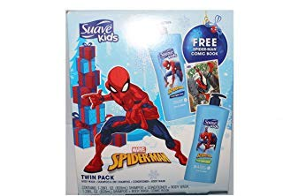 Marvel Spider-man Twin Pack body wash + shampoo & 3 in 1 Shampoo + conditioner + body wash + comic book