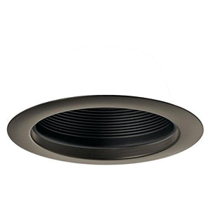 Kichler Olde Bronze with Black Baffle Recessed Light Trim