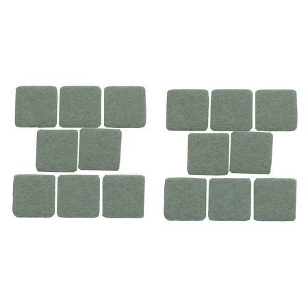 Felt Pads, Square, 1 In., PK16