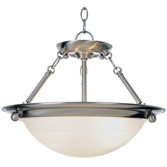 Monument 560795  Contemporary Pendant, Brushed Nickel, 15-1/2 X 13-1/4 In.
