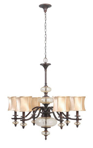 World Imports 8546-56 Chambord Weathered Bronze 6 Light Chandelier