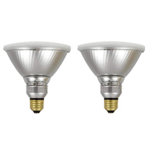 SYLVANIA General Lighting 40330 Sylvania 90 Watt Equivalent, PAR38 LED Light Bulbs, Non-Dimmable, White Color 3000K, Made in The USA with US and Global Parts, 2 Pack, Bright