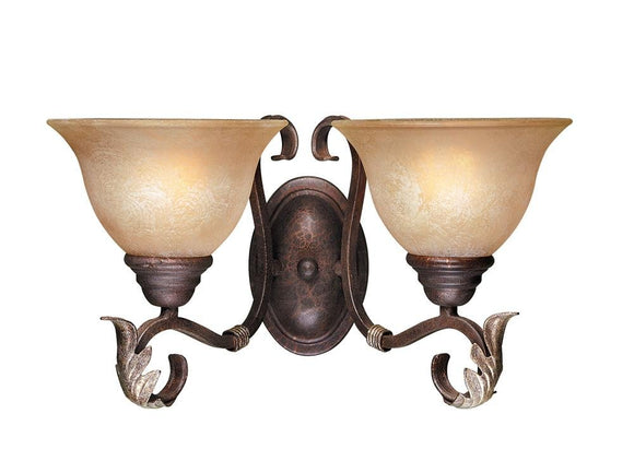 World Imports 2623-24 Olympus Tradition Crackled Bronze Wall Sconce