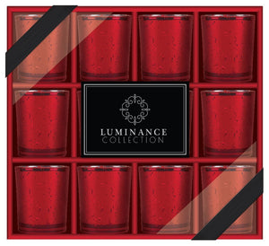 "Home Essentials 3"" H Cellini Luminance Red Votive Set of 12 GB"