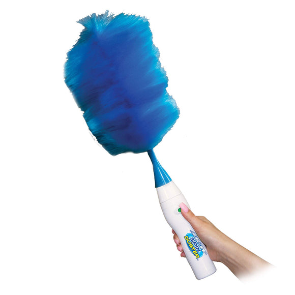 Hurricane Spin Duster Motorized Dust Wand by BulbHead, the Electric Duster That Removes Dust in A Single Spin