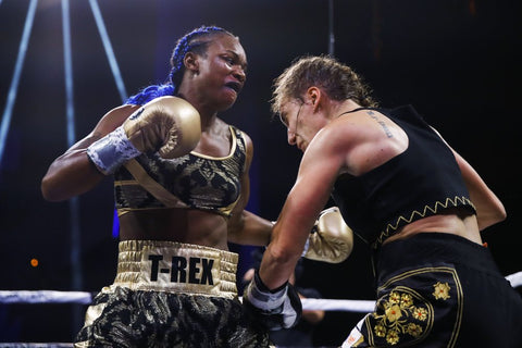 Claressa Shields Ring Attire by Cosmo and DOnato