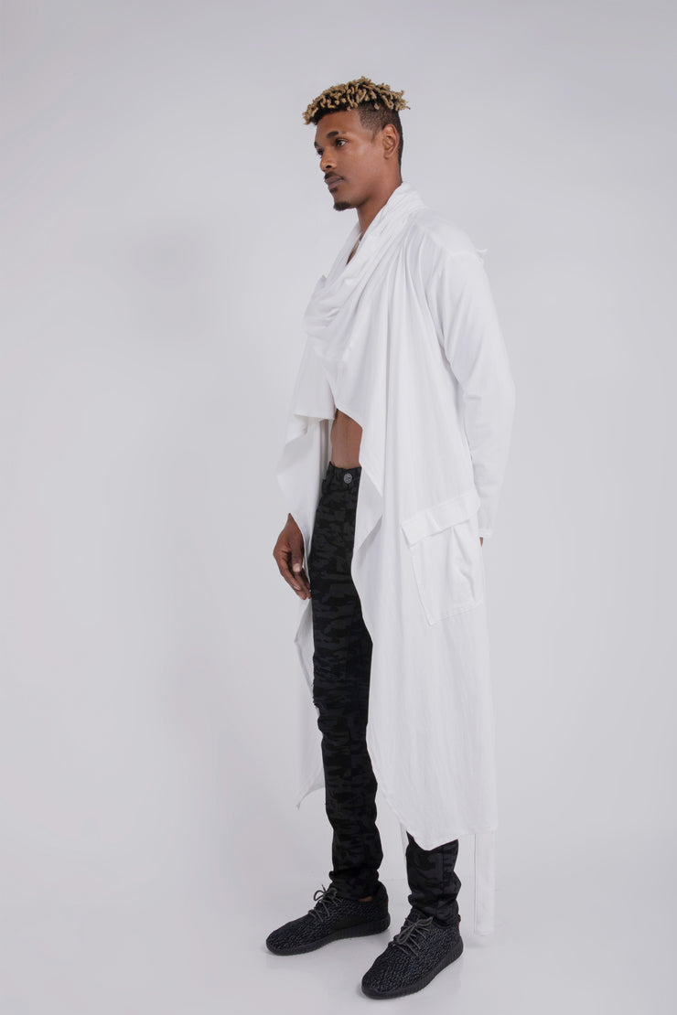 """OUTLAW"" CLOAK JERSEY COTTON - OFF WHITE"