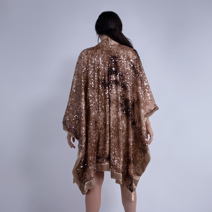 CD STARLIGHT SEQUIN PONCHO - UNISEX