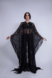 BLACK WIDOW PONCHO - UNISEX