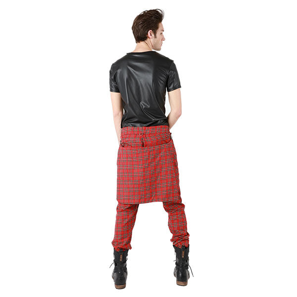 """NIGHTMARE"" TARTAN PLAID PANTS MENS - cosmos-glamsquad"