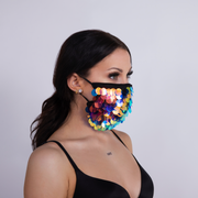 """LUNAR"" FACEMASK DISC PAILLETTE"
