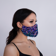 """PURPLE STARLIGHT"" SEQUIN FACEMASK"