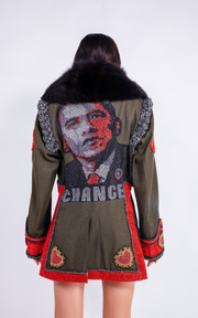 "OBAMA ""CHANGE"" MILITARY JACKET - COUTURE"
