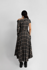 """IRREGULAR"" PLAID FLANNEL DRESS - WOMANS"