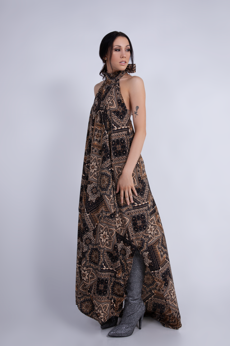 """STUDIO 54"" LOW-BACK DRESS PAISLEY - WOMENS"