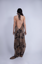 """COSNALI"" LOW-BACK DRESS PAISLEY - WOMENS"