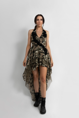 """LUCKY STAR"" DRESS ARMY CAMO - GUEST DESIGNER"
