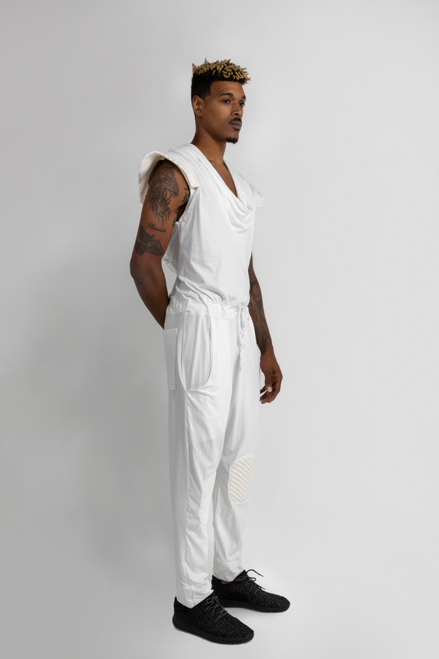 "CD ""ROCKET MAN"" JUMPSUIT WHITE - MENS"