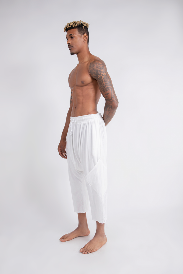 CD DROP RISE LOUNGE PANT WHITE - MENS