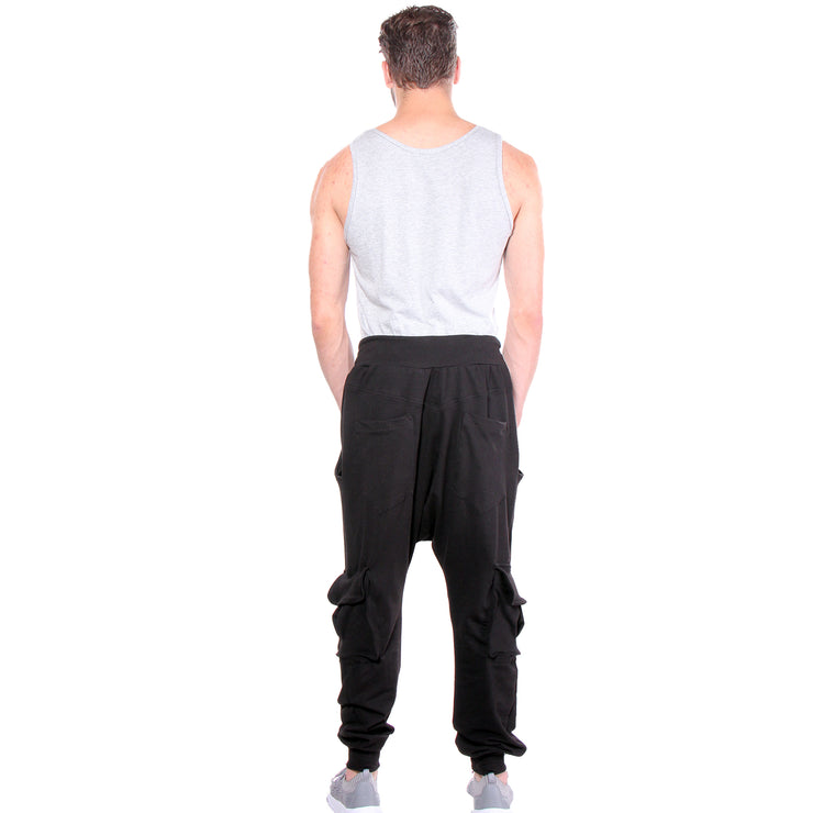 "CD ""BIG"" KNIT CARGO PANT BLACK - MENS - cosmos-glamsquad"