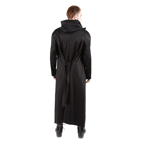 """CLINT"" CLOAK TWILL COTTON  BLACK - MENS - cosmos-glamsquad"