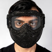 CD GEMSTONE COATED SKI MASK BLACK - COUTURE