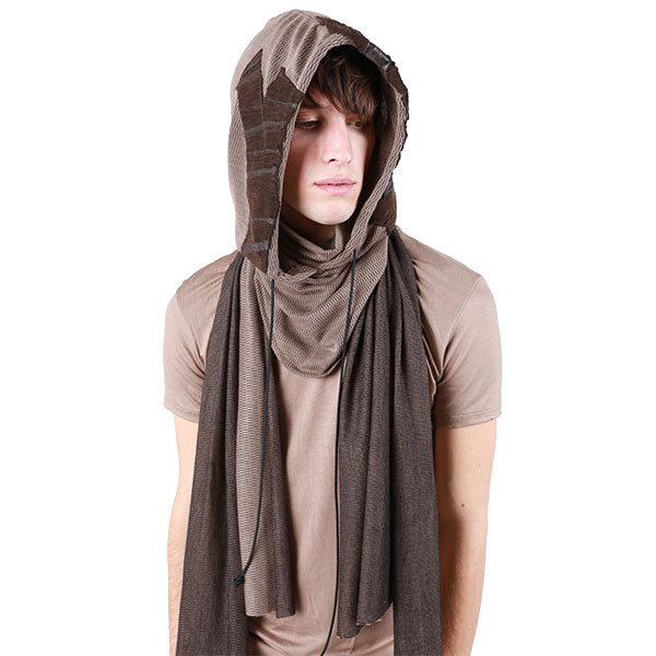 """ASSASSIN"" HOODED SCARF - UNISEX - cosmos-glamsquad"