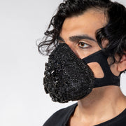 "CD ""DIAMONTE"" GEMSTONE STUDDED FACE MASK - COUTURE"