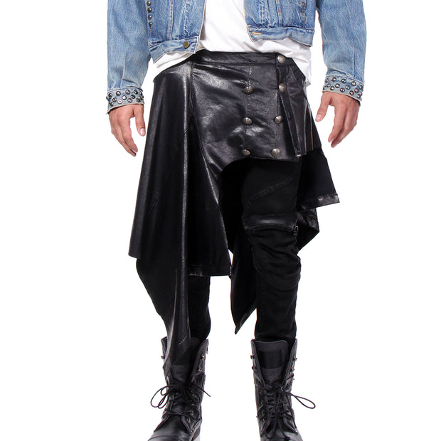 KILT WAIST WRAP GLOSSED VEGAN LEATHER - UNISEX