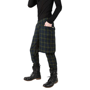"""NIGHTMARE"" TARTAN PLAID PANTS MENS"