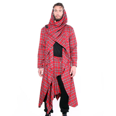 """CLINT"" CLOAK TARTAN PLAID - MENS - cosmos-glamsquad"