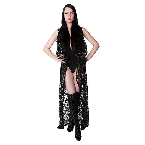 PRISM TEXTURED PRINCESS CAPE - WOMENS - cosmos-glamsquad