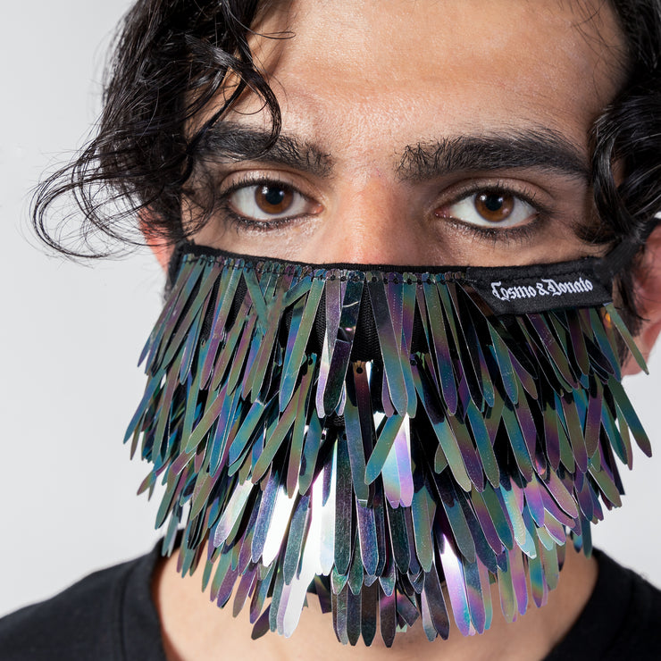 REFLECTIVE PAILLETTE FACE MASK - COUTURE