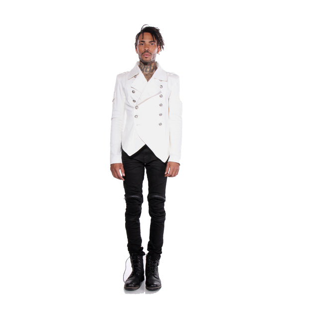 """RODOLFO"" MILITARY JACKET WHITE - MENS - cosmos-glamsquad"