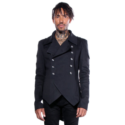 """RODOLFO"" MILITARY JACKET BLACK - MENS - cosmos-glamsquad"