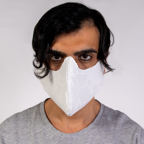"CD ""HALF MASK"" VEGAN LEATHER FACE MASK"