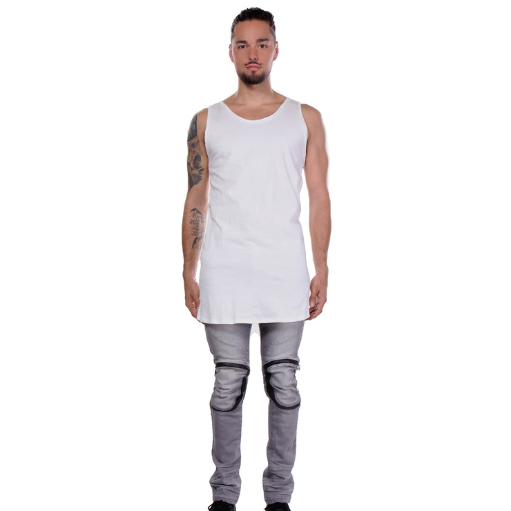 CD EXTENDED TANK TOP HEATHER GREY - MENS